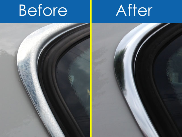 BMW・アルピナ・メッキモール磨きBefore・After